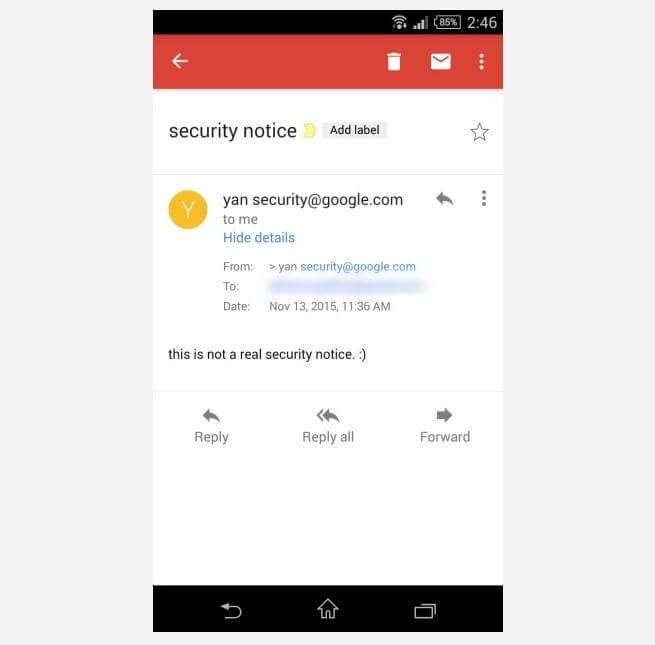 Bug no Gmail do Android deixa você mandar emails em nome de qualquer um - Imagem 1